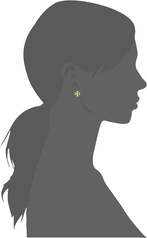Tory Burch Women's Gold Stud Logo Earrings
