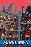 Tainsi World, Wood, Minecraft Poster - Matte Poster Frameless Gift 11 x 17 pulgadas (28 x 43 cm) *IT-00009