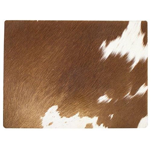 Mars & More - Tischset, Platzset, Untersetzer - Kuhfell - Braun Weiß - Unikat - 30 x 40 cm - 1 Stück