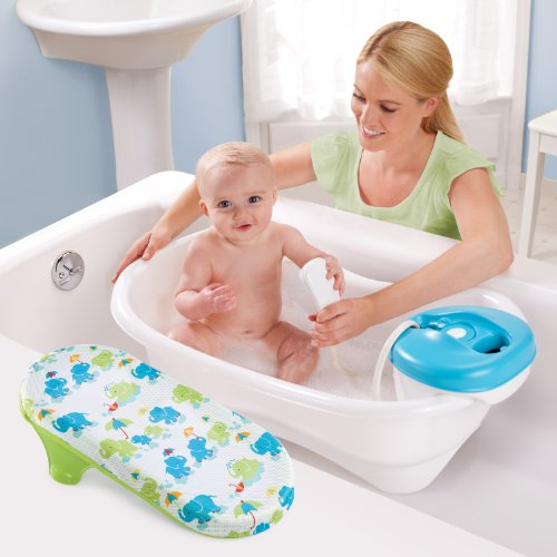 Summer Newborn to Toddler Bath Center and Shower (Neutral) – Bathtub Includes Four Stages That Grow with Your Child