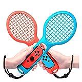 Fiimoo Racchetta da tennis per Mario Tennis Aces Nintendo Switch joy-con,accessori per gioco Utilizzare solo per la modalità swing su Nintendo Switch blu e rosso) ((2 pezzi)