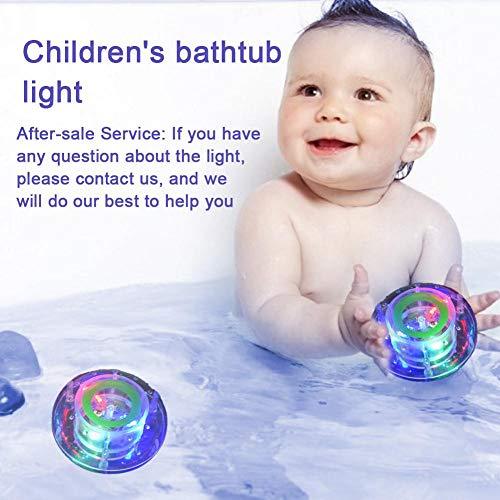 TARTIERY Juguete de baño Ballena Juguetes de baño, bañera, bañera, Agua, Juguetes Coloridos, luz Flotante para bebés y niños pequeños de Forma excelente