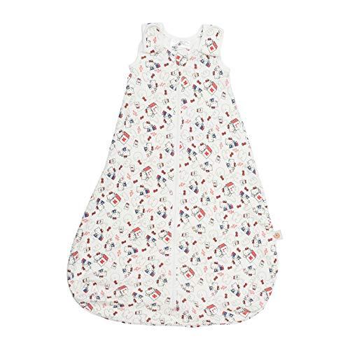 Ergobaby Babyschlafsack Sommer Neugeboren 56-62 Baumwolle, Sommerschlafsack Baby Schlafsack 0-6 Monate 0.5 TOG, Hello Kitty Head in the Clouds