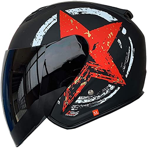 Casco de Casco de Motocicleta de Verano / ECE Aprobado Abierto Casco de Motocicleta con Sombrero de Sol Cap de Motocicletas Retro...
