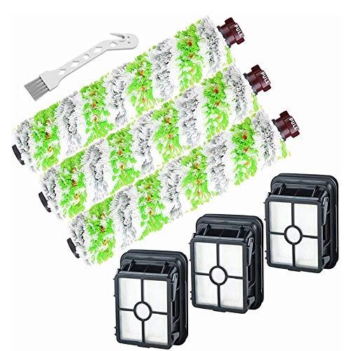 Fransande - Piezas de repuesto para CrossWave Pet Pro Serriie 1785, paquete de 3 rollos de cepillo multisuperficie 2460 + filtros de vacío