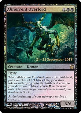 Magic The Gathering - Abhorrent Overlord (75/249) - Prerelease & Release Promos - Foil