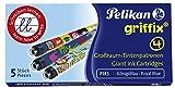 Pelikan P1R3 Griffix Refills Füllhalter Faltschachtel mit 5 Patronen