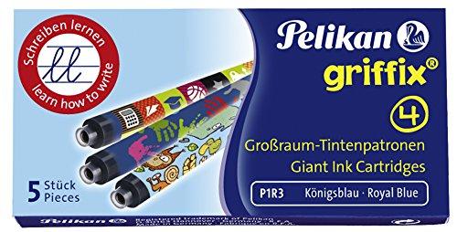 Pelikan Griffix Refills vulpen, vouwdoos met patronen bont bedrukt 5 Stuk