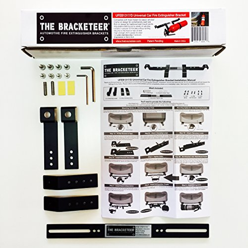The Bracketeer Car Fire Extinguisher Bracket | Universal Design Fits Most Vehicles | 20,000 Sold