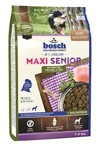 bosch HPC Maxi Senior mit frischem Geflügel & Reis | Hundetrockenfutter für ältere Hunde großer Rassen (ab 25 kg) | 1 x 2.5 kg