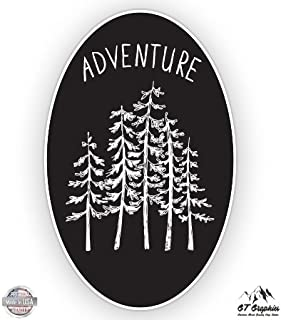 GT Graphics Forest Oval Woods Adventure - Vinyl Sticker Waterproof Decal