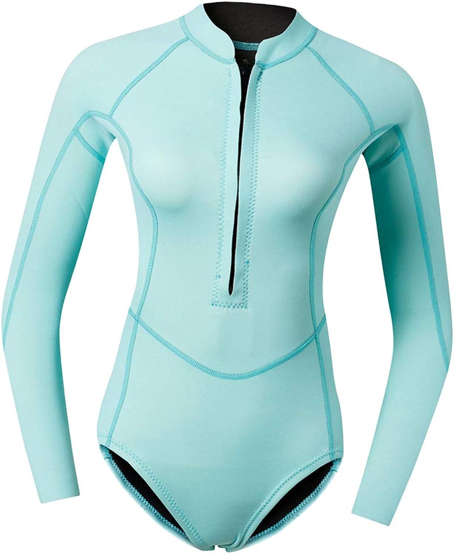 Baoblaze Shorty Wetsuit 2MM Neoprene Front Zip Winter Swimwear Diving Suit blueee for Women with One Dive Equipment Bag