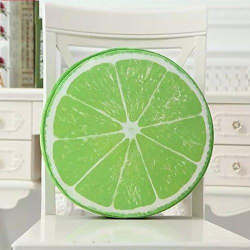 WEBO HOME- Coussin de fruits de mode jouets coussins créatifs Coussin coussin personnalisé peut être amovible et lavable -Coussin/oreiller (Couleur : Lemon)