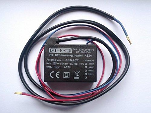 GEZE Stromversorgungsteil RSZ 6 Aus Rauchschaltzentrale RSZ 6