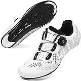 DTKJ Damen Fahrradschuhe Rennrad SPD, Herren Fahrradschuhe Spin Shoestring kompatibel mit Peloton/Look Delta Pedalen