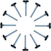 Yuanqian Lot de 2 roulettes en nylon pour porte de garage 6200ZZ 11 roulements /à billes 17,7 cm