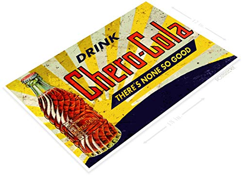 "PosterGlobe Poster B485 Chero Cola Retro Rustic Soda Store PosterBottle Drink Rustic Cola Poster 12"" x 18"""