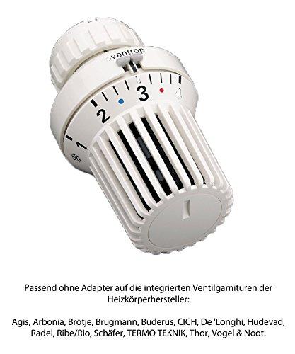 Buderus/Oventrop Heizkörper Thermostatkopf Uni XD Klemmanschluss
