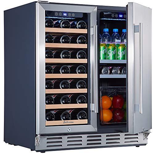 Under Counter Wine and Beverage Refrigerator, Kalamera 30 inch Wine Cooler...