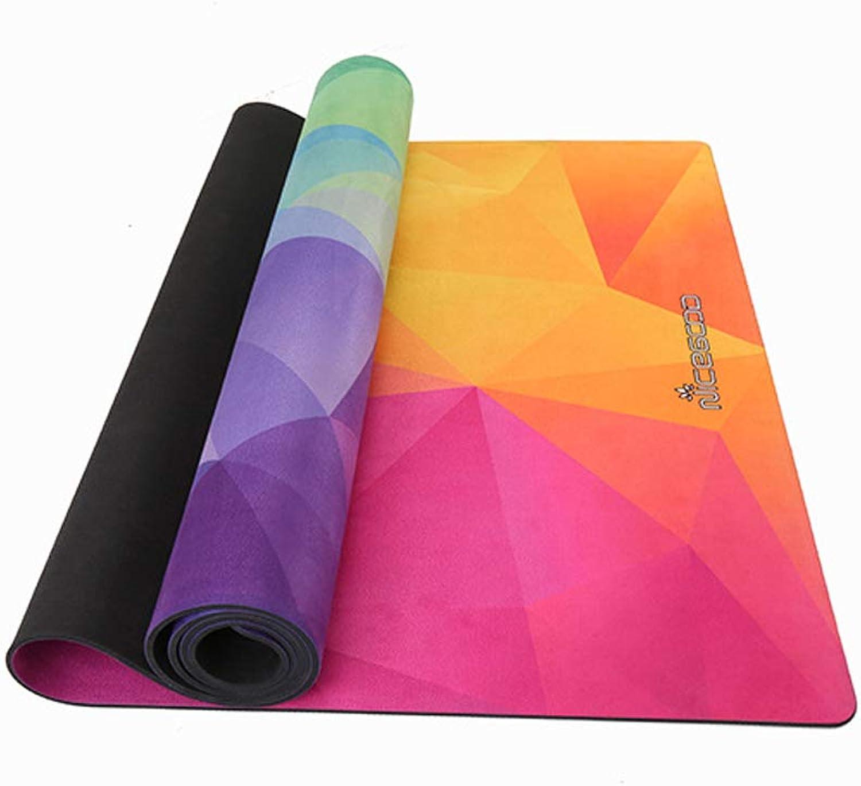 GCGC Yoga-Matte, doppelt farbig Bedruckte Anti-Rutsch-Yogamatte aus Wildleder