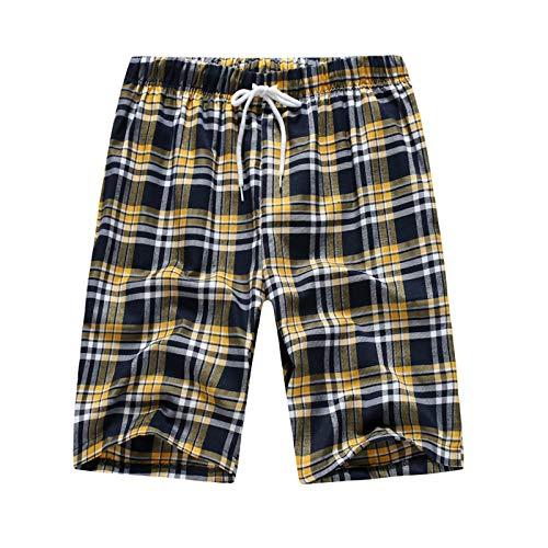 2021 Nuevo Pantalones cortos Hombre Verano Casual Moda Deporte Pants Jogging Original Impresión a cuadros Cortos Pantalon Fitness Gym Suelto Ropa de hombre Pantalones de casa pijama playa shorts