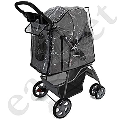 Easipet Rain Cover Pet Stroller 7
