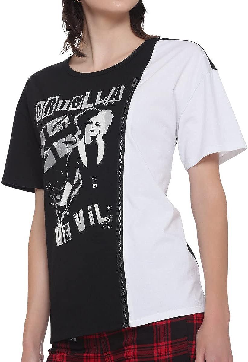 Her Universe Disney Cruella Zipper Split Girls T-Shirt