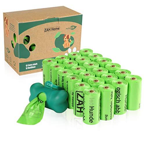 ZAH Hundekotbeutel biologisch abbaubar und kompostierbar, 360er Pack, auslaufsicher, große und extra Dicke Kotbeutel für Hunde, mit Beutelspender, Nachhaltige Produkte
