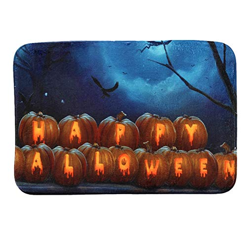 ABLUD anti-slip absorberende deurmat Halloween luxe zachte pluizige zware kwaliteit hard dragen Barrier mat (40 * 60Cm)