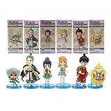 GYCOZ Decoración hogareña 6 unids/Set One Piece Anime Figure Toys Tierra de Wano Luffy Roronoa Zoro ...