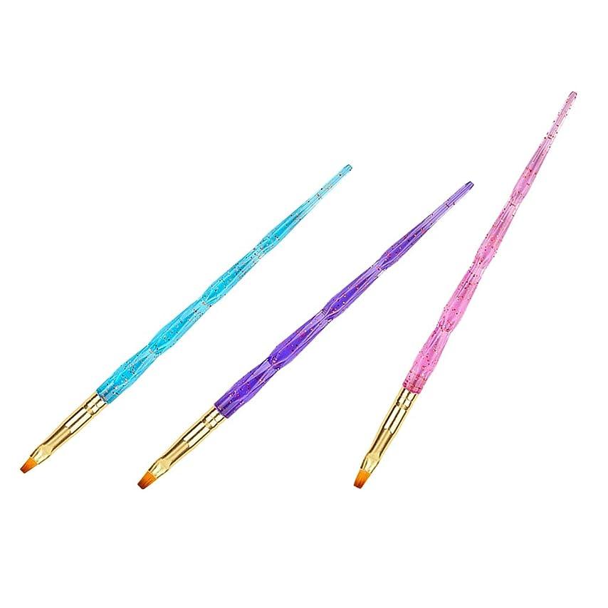 バナナアクセスできない手当SM SunniMix ネイル ブラシ UV 用 平筆 ブラシ 3本 セット ジェルネイルブラシ ジェルネイル用筆