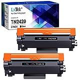 LxTek TN2420 TN2410 Compatible para Brother TN-2420 TN-2410 Cartuchos de Tóner para Brother MFC-L2710DW HL-L2310D HL-L2350DW HL-L2370DN HL-L2375DW DCP-L2530DW MFC-L2710DN L2730DW (2 Negro, con Chip)