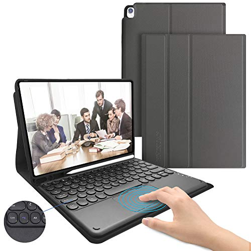 iPad Keyboard Case with Touchpad for iPad 8th Gen(2020)/7th Gen(2019) 10.2 Inch-Detachable Wireless Keyboard Case for iPad Air 3 10.5/iPad Pro 10.5,Bulit-in Pencil Holder,Auto Sleep/Wake (Gray)