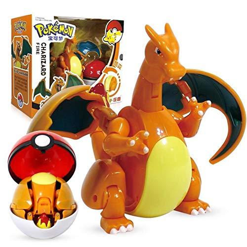 Pokemon Spielzeug Figur Pikachu Charizard Gyarados Blastoise, Taschenelfenball Manuelle Verformung Roboter Elf Baby Set Film & Tv