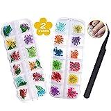Getrocknete Blüten Nail Sticker Box