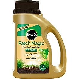 Miracle-Gro Patch Magic Semences de Gazon avec Engrais et Support en Fibres de Coco avec Bouchon doseur 1,015 kg
