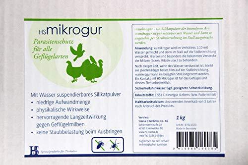 H&S Mikrogur 5 - Kieselgur Spritzmittel gegen Milben & Parasiten im Hühnerstall - Verbrauch 5-10g/m²