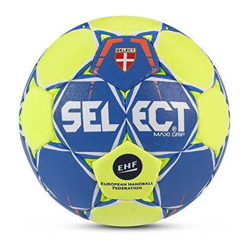 SELECT Maxi Grip 2.0Hand Ball, Unisex, Maxi Grip 2.0, Blu/Giallo/Bianco, 3
