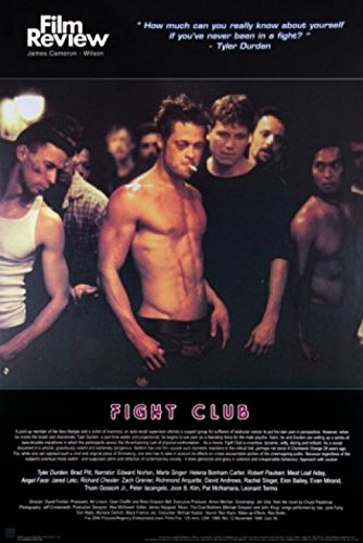 1art1 Fight Club - Brad Pitt, Film Review Collection (Fight Scene) Poster 91 x 61 cm