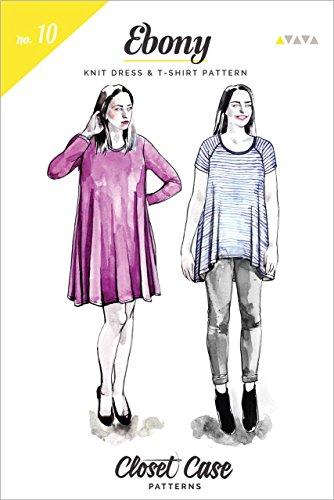 Ebony Strickkleid & T-Shirt – Anfänger-Schnittmuster von Closet Case, einfaches Nähmuster-Design, Damen Strickkleid / T-Shirt-Muster