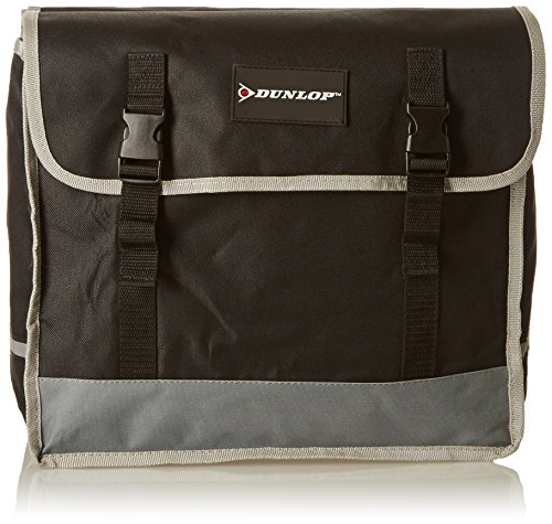 Dunlop Vehicle Pannier, Borsa Doppia per Bici Unisex Adulto, Nero\\Grigio, 0