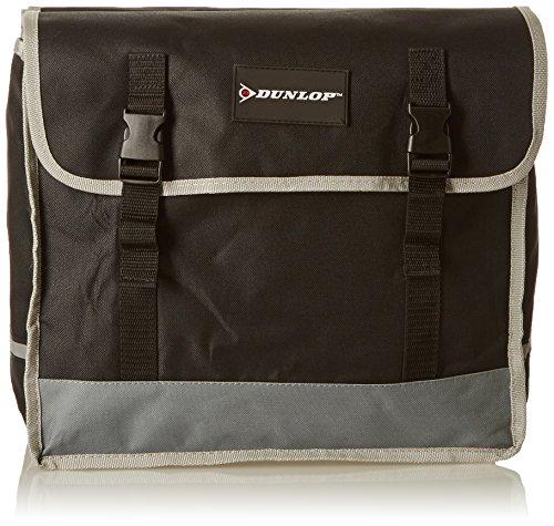 Dunlop Fietstas, dubbel, PES, zwart/grijs