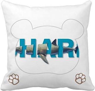 OFFbb-USA Shark Ocean Hunting Body Bear - Funda cuadrada para almohada