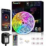 Tiras LED 5M, Romwish 5050 SMD RGB LEDs con Control Remoto de 44 Botones & Control Bluetooth,para la Habitación, Dormitorio, fiestas, bares