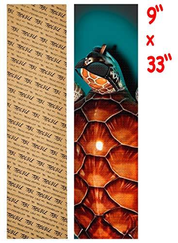 TROUBLE SKATEBOARDS Griptape Graphic 9 x 33 blasenfrei wasserdicht Longboard Skateboard Scooter Anti-Rutsch-Griptape für rutschige Oberflächen Treppen Geländer Stufen (G21)