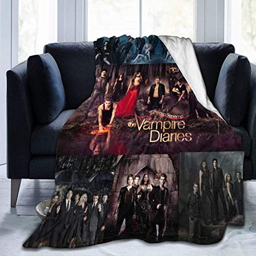 The Vampire Series Diaries Poster Blankets Throw Plush Flannel Fleece Blanket Merch Novelty Gift for Boyfriend Girlfriend Wife Fuzzy Soft Twin Queen Size for Couch Picnic