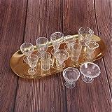 PiniceCore 12st / Transparente Puppenstuben Cups Mini-Kunststoff-Miniaturen Geschirr Empfindliche...
