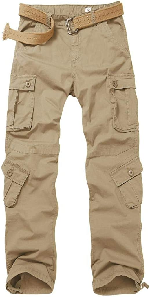 AKARMY Men's Lightweight Casual Cargo Long Beach Mall Pants Las Vegas Mall Military Combat Rel