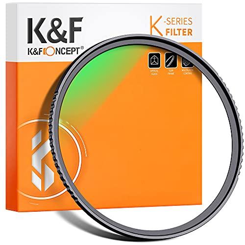 K&F Concept Filtrode Protección Ultravioleta UV77mm con MRC Multirresistentes para Objetivo de 77mm con Funda