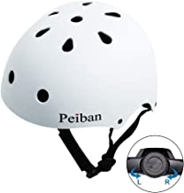 Peiban Skateboard Helmets Adjustable Safety Bike Helmets ASTM CPSC Cycling Skating Scooter Helmet for Kids & Adults Multi-Sport